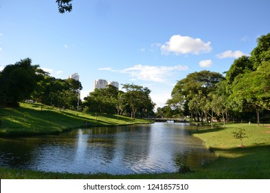 Pond at the park in Goiania