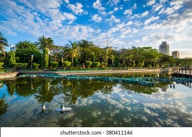 A pond at Rizal Park, in Ermita, Manila, The Philippines.