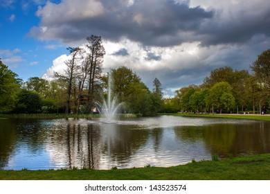 Pond  in Vondelpark, Amsterdam