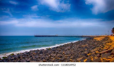Pondicherry Beach View