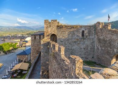 PONFERRADA, SPAIN - JUN 12, 2017: Templar Castle Citadel