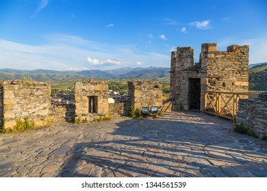 PONFERRADA, SPAIN - JUN 13, 2017: Scenic view from the fortress tower