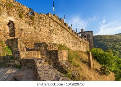 Ponferrada, Spain. Medieval fortifications