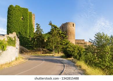 Ponferrada, Spain. Scenic view of the medieval Templar fortress