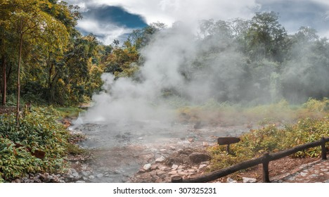 Pong Duad geyser, Huay-nam-dung national park, Chiangmai, Thailand