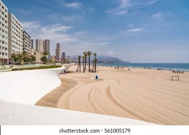 Poniente beach , Benidorm