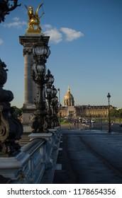 Pont Alexandre III bridge, Seine, Paris, France, 06.07.2018