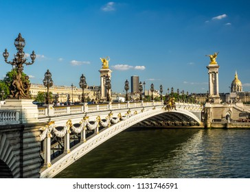 The Pont Alexandre III is Paris's most elegant, grandiose, and sumptuous bridge. It is one of the worlds most beautiful river crossings