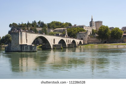 Pont d'Avignon (Bridge of Avignon), Avignon, France. It is listed in the UNESCO World Heritage Site.