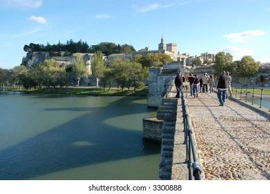 Pont d'Avignon (St-Benezet).  Avignon Bridge.  France.