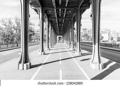 Pont de Bir Hakeim in Paris, France, a bridge for Metro