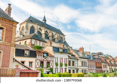 Pont de l'Arche, picturesque town in Normandy on the bank of river Seine, France
