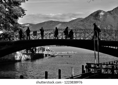 Pont des amours in Annecy, mountains, lagoon, landscape
