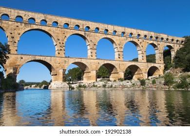 Pont du Gard in Provence, France.