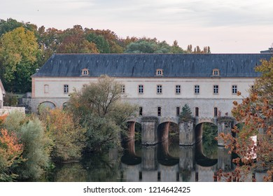 Pont Écluse, Thionville, Moselle canal. The picture was taken in October 2018.