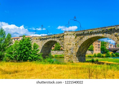 Pont Vieux over river Aude in Carcassonne, France