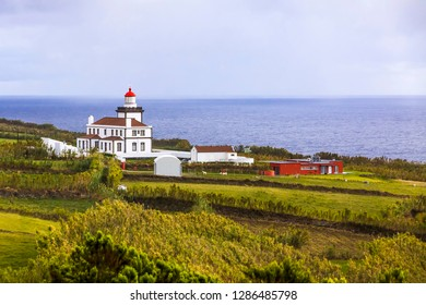 Ponta da Ferrarias lighthouse on Sao Miguel island, Azores, Portugal
