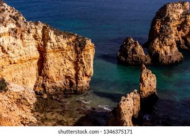 Ponta da Piedade cliffs, near Lagos, Algarve, Portugal