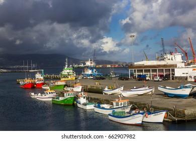 Ponta Delgada, Azores - May 05,2017: Ponta Delgada on the island of Sao Miguel is the capital of the archipelago of the Azores.