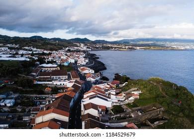 Ponta Delgada coast, San Miguel island, Azores, Portugal.