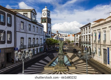 Ponta Delgada on the island of Sao Miguel is the capital of the archipelago Azores.