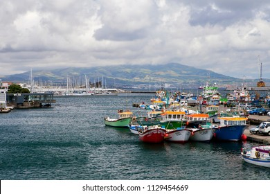 PONTA DELGADA, PORTUGAL - JUNE 28th, 2018: Ponta Delgada, on Sao Miguel Island, is the capital of the Azores archipelago of Portugal.