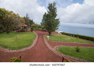 Ponta do Sossego viewpoint in beautiful Azores island, Sao Miguel, Portugal.