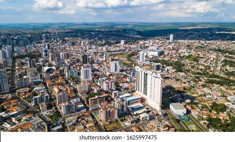 Ponta Grossa - PR. Aerial view of Ponta Grossa city - Paraná - Brazil