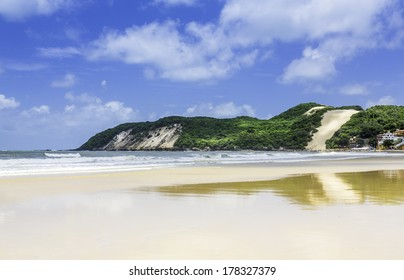 Ponta Negra beach in city of Natal, Brazil