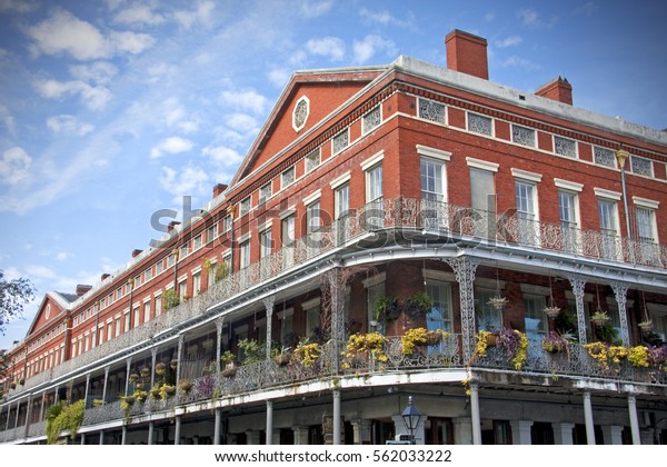 Pontalba Building New Orleans Louisiana This Stock Photo