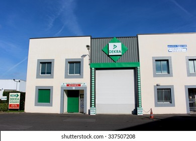 PONTAULT COMBAULT, FRANCE - NOVEMBER 8, 2015: Dekra store in Pontault Combault, France. Dekra is an inspection company vehicles and technical systems, and leader in the European market.