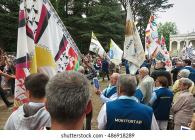 Pontchateau, France - September 11, 2016: Celebration of 300 anniversary of the death of St. Louis Monfort, Monfort jubilee year.