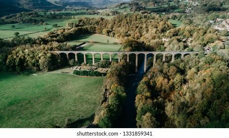 Pontcysyllte Aqueduct - Trevor Basin, Wrexham - Drone photo