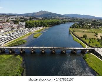 Ponte de Lima drone birds eye view