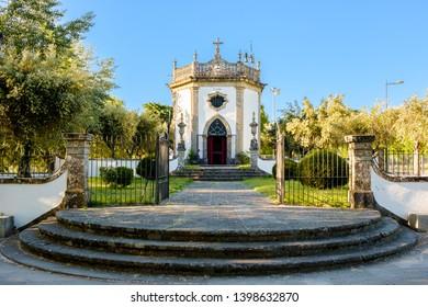 Ponte de Lima , Portugal - May 13, 2019: St. John's Chapel, Ponte de Lima , Portugal.