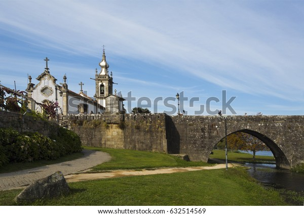 PONTE DE LIMA, PORTUGAL – OCTOBER 7, 2016: The church of Santo Antonio da Torre Velha is a late baroque temple with nave, greater chapel, sacristy and bell tower in the town of Ponte de Lima, Portugal