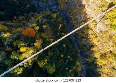 Ponte nel Cielo - Valtartano - Valtellina (IT) - aerial view
