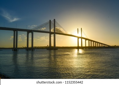 Ponte Newton Navarro bridge on sunset, landmark in Natal, Rio Grande do Norte, Brazil