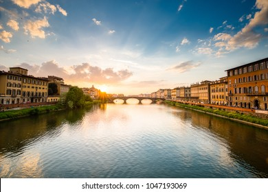Ponte Santa Trinita or Holy Trinity Bridge in Florence