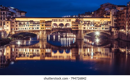 The Ponte Vecchio in Florence,Italy