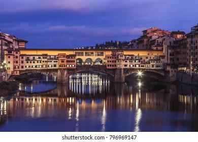 Ponte Vecchio  is a medieval stone closed-spandrel segmental arch bridge over the Arno River, in Florence Italy