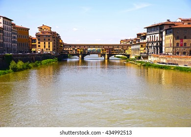 Ponte Vecchio on a sunny spring day, Florence, Italy