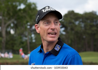 PONTE VEDRA BEACH, FL-MAY 09: Jim Furyk at The Players Championship, PGA Tour, on practice day May 09, 2012 at The TPC Sawgrass, Ponte Vedra Beach, Florida, USA.