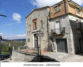Pontelandolfo, Campania, Italy - 12 October 2018: Church of the Santissima Annunziata, also known as the Temple of the Annunciation Ancient, where the bodies of the victims of the massacre were buried