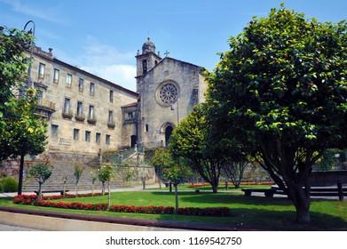 PONTEVEDRA, CAMINO DE SANTIAGO, SPAIN - JULY 11, 2018: Camino Portuguese, Pontevedra, place of passage for pilgrims, The St. James Way