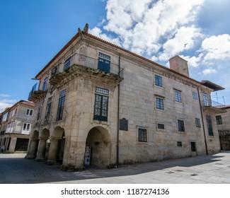 Pontevedra, Galicia, Spain; September 2018:  Garcia Florez Building is part of the Museum of Pontevedra,