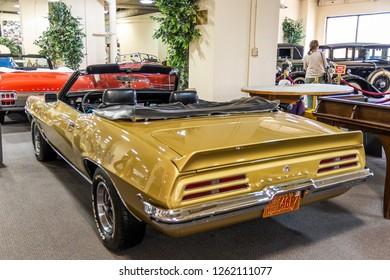 Pontiac Firebird at the don Laughlin collection of classic cars Museum. Nevada, USA, November 2018