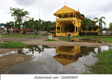 pontianak city, west kalimantan, indonesia. april 14, 2016 : Kadriah Palace building.