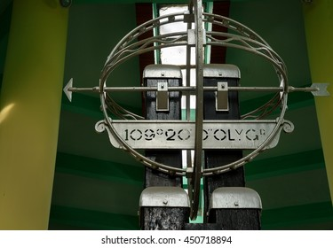 Pontianak, Indonesia - Dec 28, 2015: Equatorial Monument is located on the equator. Its grand opening on 1991