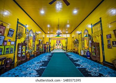 Pontianak, Indonesia : Interior of Kadriah Palace (Istana Kadriah), a heritage and historical building, royal palace of Pontianak Kingdom, a popular tourist destination in Pontianak (08/2019).